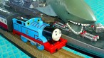 Thomas The Tank Trackmaster Pool Tracks Russian Navy Ship Attack Crash & Accidents Fun